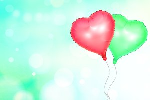 Heart balloon on blur background