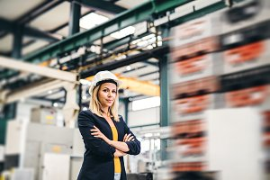 A portrait of an industrial woman