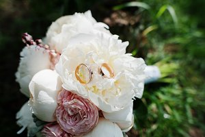 Elegance wedding bouquet of white an