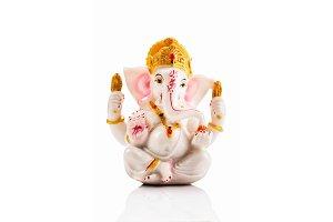 Ganesha statue on white