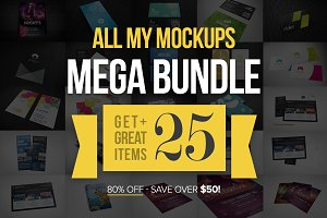 All My Mockups Mega Bundle