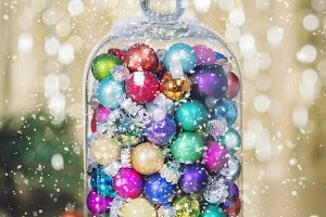 Christmas decoration with balls and