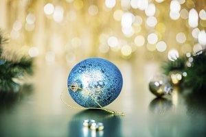 Christmas decoration on abstract bac