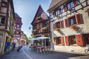 morning in Colmar, old medieval town