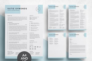4 Pages Resume/CV Template