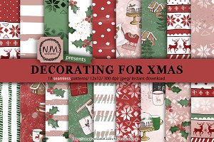 Christmas decor paper pack