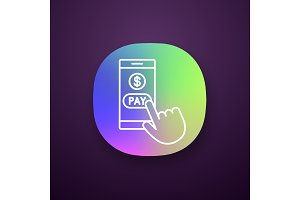 Online payment app icon