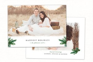 Christmas Card Template CC216