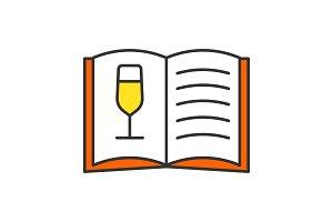 Wine menu color icon