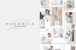 Magnolia Instagram Puzzle Template