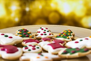 Christmas cookies on a dish