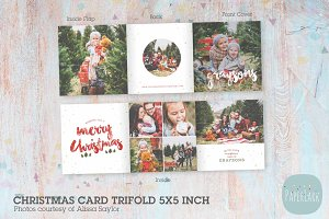 YC005 Christmas Trifold Card