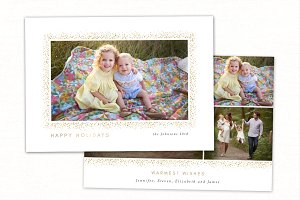 Christmas Card Template CC226