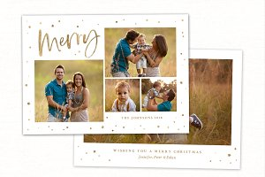 Christmas Card Template CC229