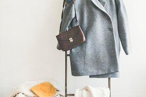 Fashionable female set of winter
