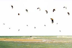 kiteboarding kitesurfer in Andalucia