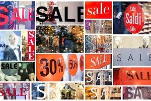 winter sale collage