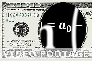 Math equations in 100 dollar bill