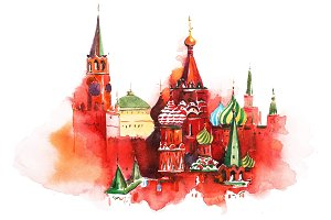 Moscow Russia Red square Saint Basil