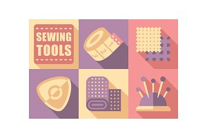Sewing tools set, tailoring and