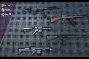Weapon Pack: Assault Rifles