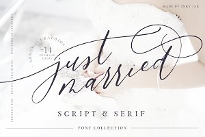 Just Married - Font Collection