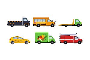 City transport set, truck, school