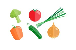 Collection of vegetables, broccoli