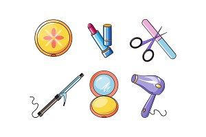 Collection of cosmetics and
