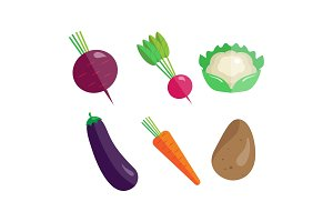 Collection of vegetables, beetroot