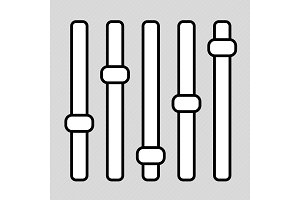 Levels icon vector isolated on white