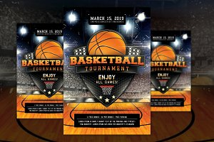 Basketball Madness Flyer Poster PSD