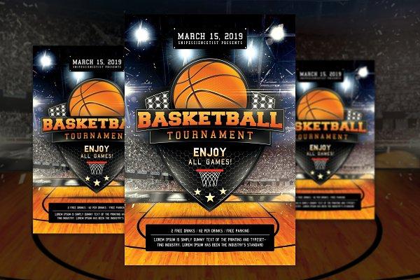 Basketball Madness Flyer Poster PSD