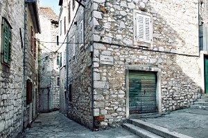 Narrow streets of mediterranean city