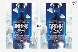 DRINK BOTTLE Flyer Template