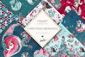 Christmas Mermaids Patterns