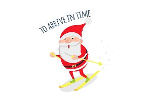 Santa Hurries to Congratulate People