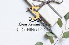Bundle - 5 Great Clothing Logos