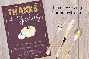 Thanks + Giving Invitation