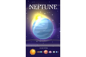 Planet Neptune in Solar System