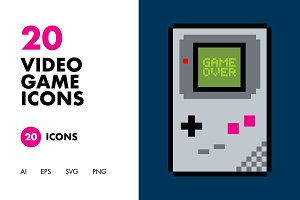 20 Video Game Icons