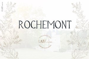 Rochemont. Class Hand lettered serif