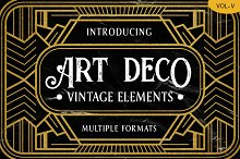 Art Deco Vintage Badges Vol. V by  in Objects