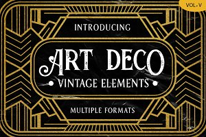 Art Deco Vintage Badges Vol. V