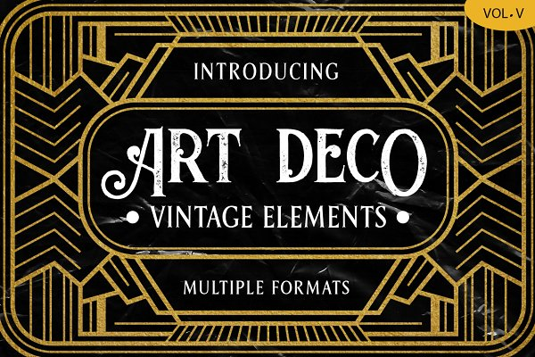 Objects: Arterfak Project - Art Deco Vintage Badges Vol. V