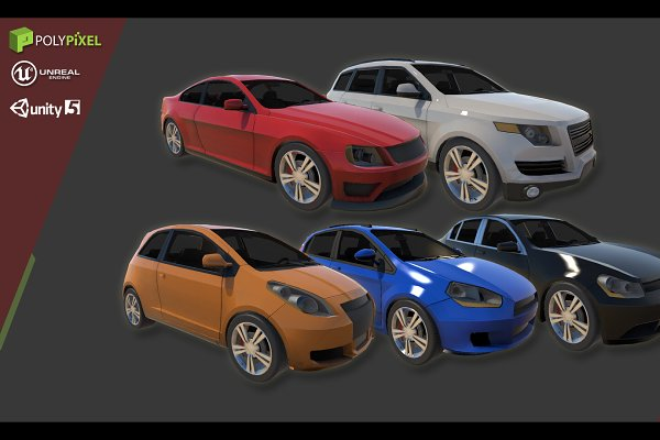 3D Vehicles: PolyPixel - Vehicle Pack: Volume One