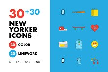 30+30 New Yorker Icons by  in Icons