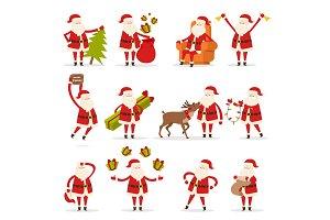 Santa Claus Activities Set. New Year