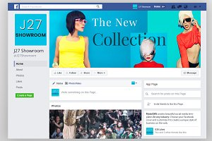 Fashion Store Facebook Cover PSD