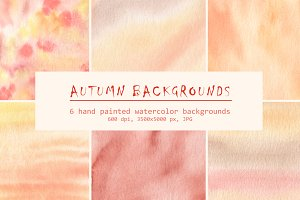 Watercolor autumn backgrounds